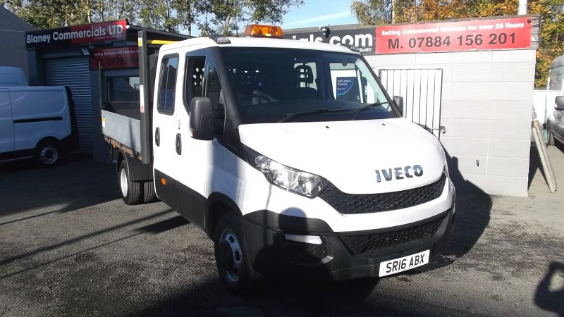Iveco Daily 35C13 2.3 Crew Cab Tipper 3750 Wheel Base 130PS